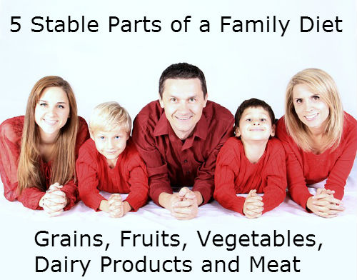 5 stable parts of a family diet