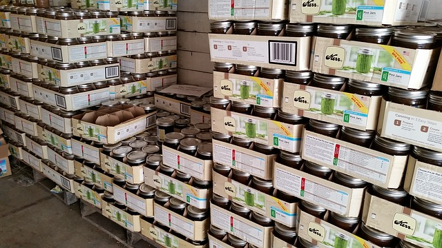 image of food being stacked